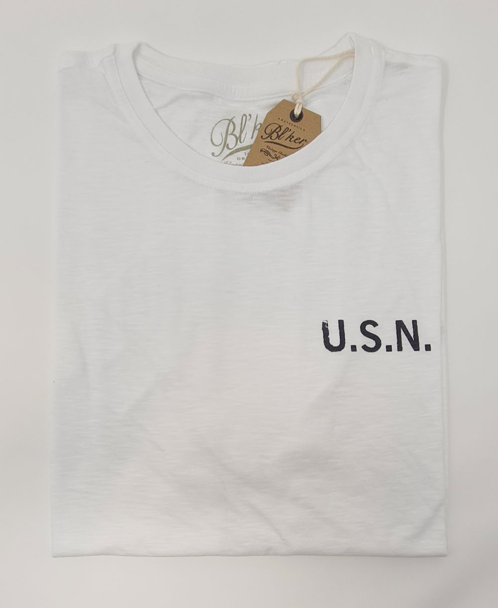 Herren Kurzarm T-Shirt USN 2021 White