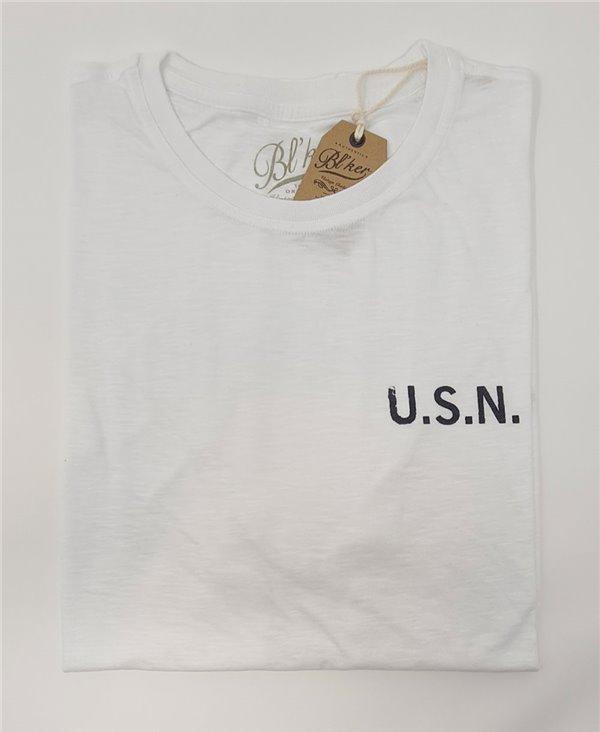 Men's Short Sleeve T-Shirt USN 2021 White