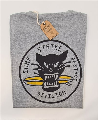 Herren Kurzarm T-Shirt Surf on Wheel Heather Grey