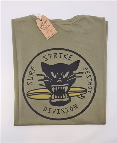 Surf on Wheel T-Shirt Manica Corta Uomo Military Green
