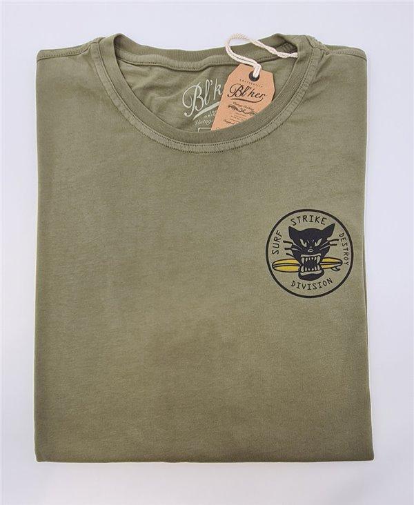 Surf on Wheel Camiseta Manga Corta para Hombre Military Green