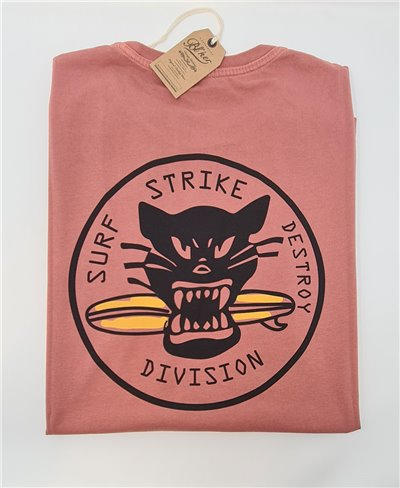 Surf on Wheel Camiseta Manga Corta para Hombre Red