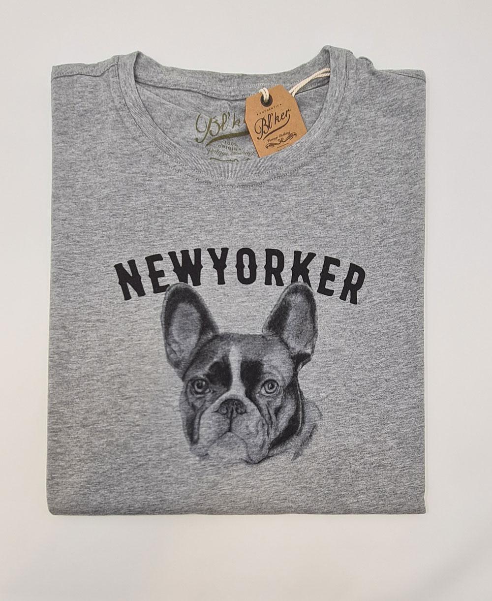 NY Bulldog T-Shirt à Manches Courtes Homme Heather Grey