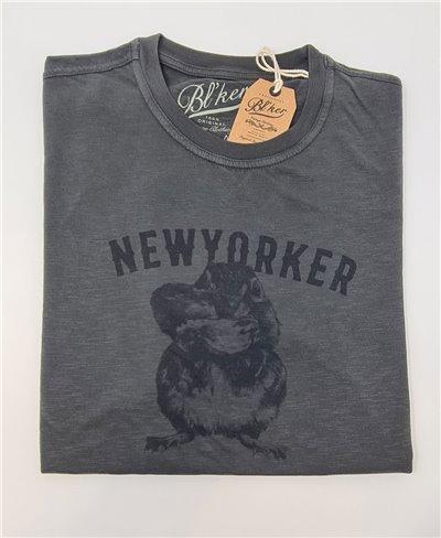 New Yorker Chesnut Camiseta Manga Corta para Hombre Faded Black