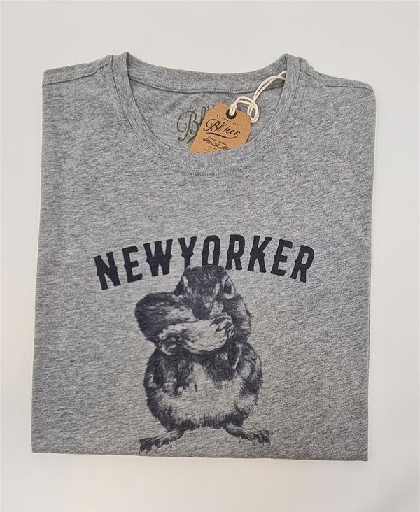 New Yorker Chesnut T-Shirt à Manches Courtes Homme Heather Grey