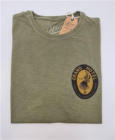 Grand Hotel Hawaii Camiseta Manga Corta para Hombre Military Green