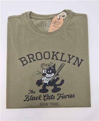 Felix Furies Camiseta Manga Corta para Hombre Military Green