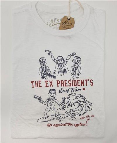Ex President Camiseta Manga Corta para Hombre White