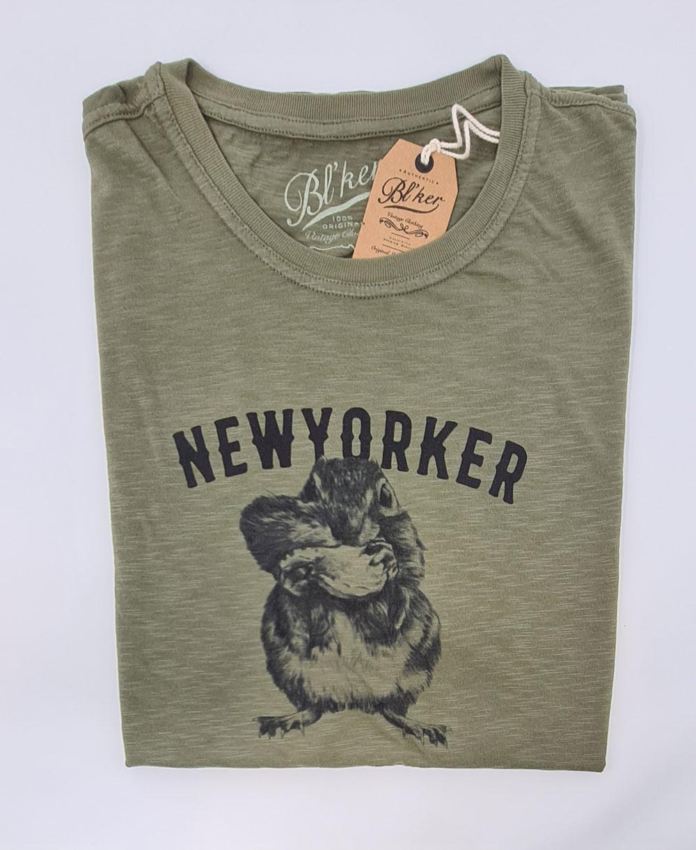 New Yorker Chesnut Camiseta Manga Corta para Hombre Military Green