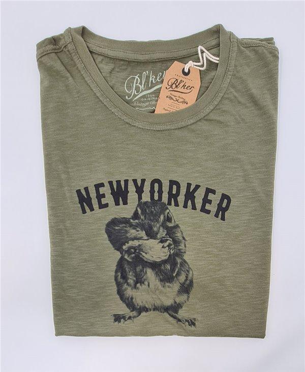 Herren Kurzarm T-Shirt New Yorker Chesnut Military Green