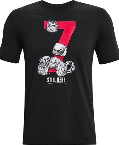Men's Short Sleeve T-Shirt UA TB12 7 Rings Black