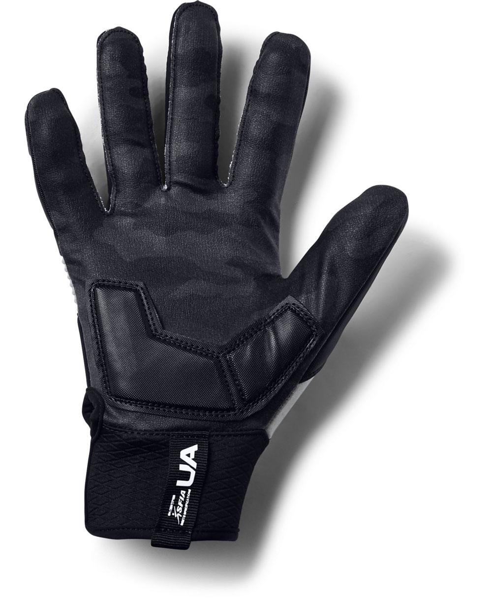 UA Combat - NFL Men's Football Gloves Black/White