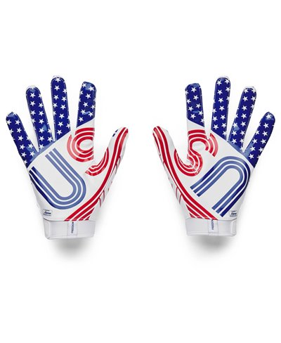 UA F7 Graphic Men's Football Gloves White/Royal