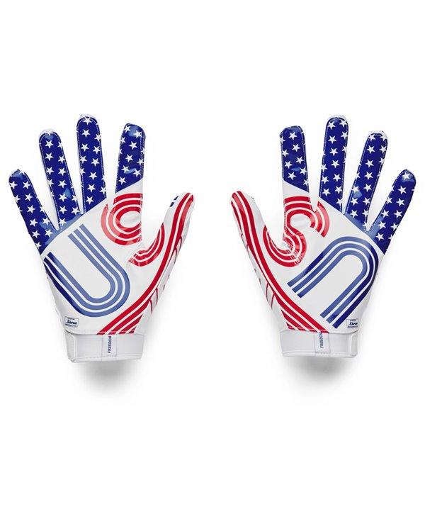 UA F7 Graphic Men's Football Gloves White/Royal