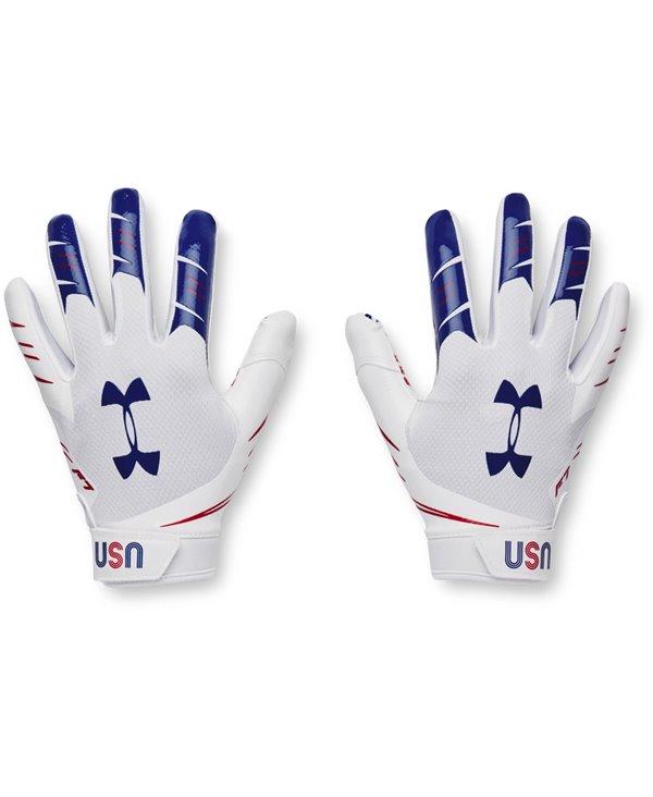 UA F7 Graphic Guantes Fútbol Americano para Hombre White/Royal