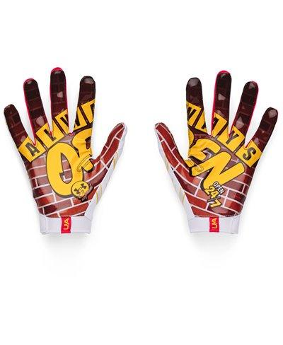 UA F7 Graphic Herren American Football Handschuhe White/Black