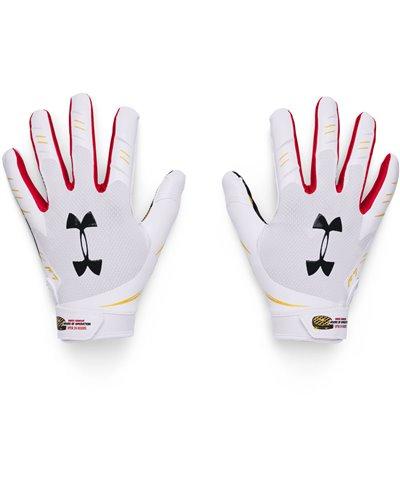 UA F7 Graphic Men's Football Gloves White/Black