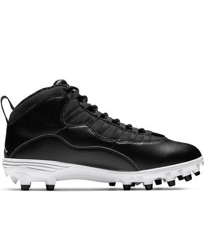 Jordan 10 TD Mid Crampons de Football Américain Homme Black/White