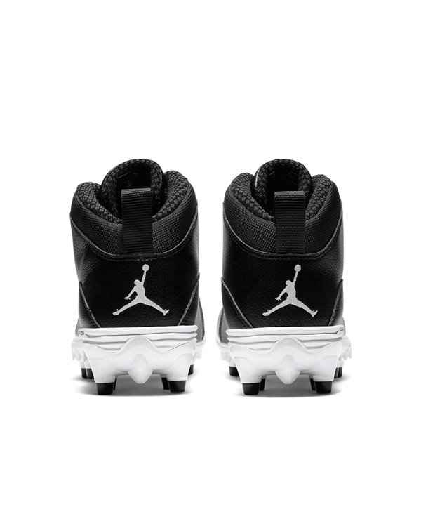 Men's Jordan 10 TD Mid American Football Cleats Black/White