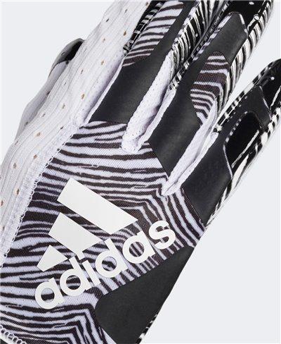 Adizero 9.0 Zubaz Herren American Football Handschuhe White/Black