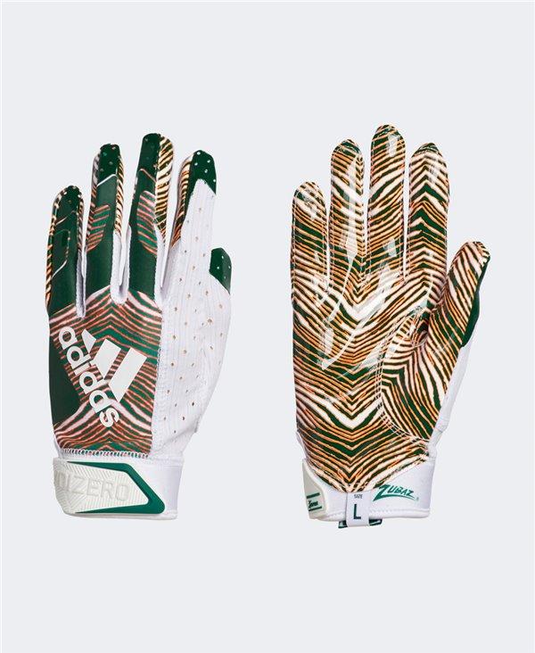 Adizero 9.0 Zubaz Men's Football Gloves White/Green
