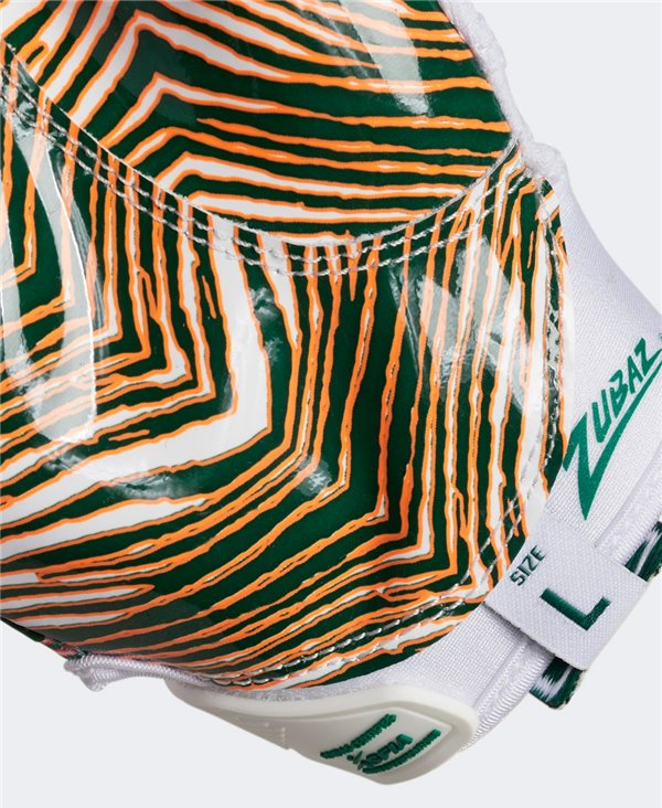 Adizero 9.0 Zubaz Guantes Fútbol Americano para Hombre White/Green