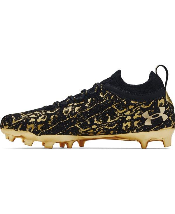 Spotlight Lux Suede 2.0 Crampons de Football Américain Homme Black/Metallic Gold