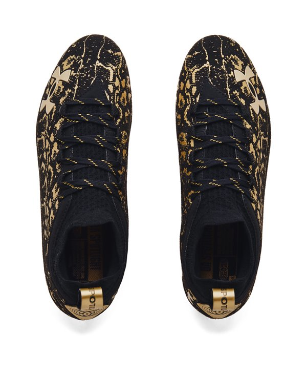 Herren Spotlight Lux Suede 2.0 American Football Shuhe Black/Metallic Gold