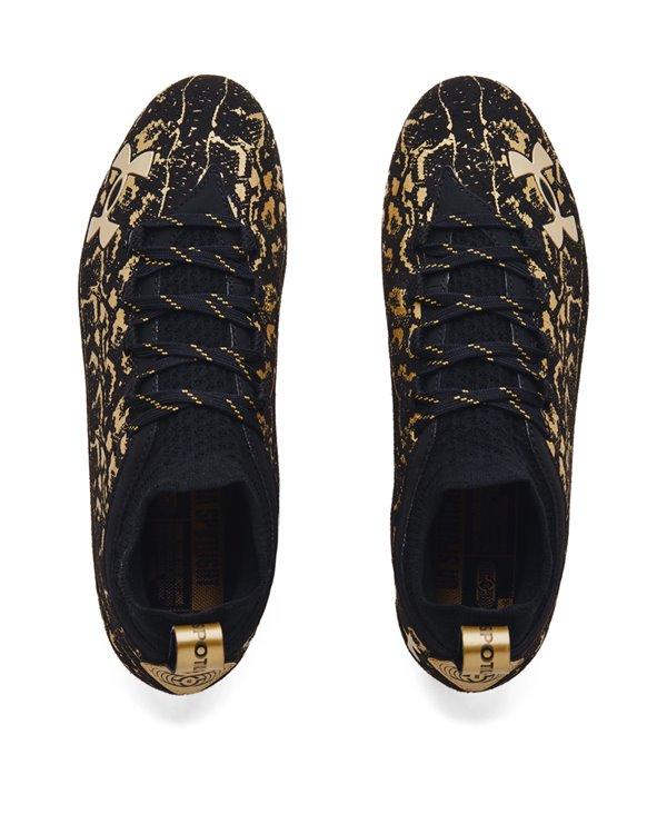 Spotlight Lux Suede 2.0 Scarpe da Football Americano Uomo Black/Metallic Gold