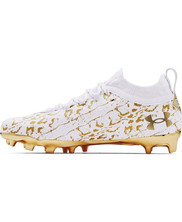 Spotlight Lux Suede 2.0 Scarpe da Football Americano Uomo White/Metallic Gold