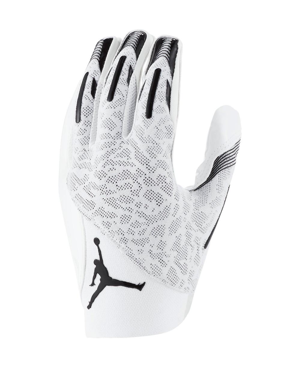 Jordan Knit Guantes Fútbol Americano para Hombre White