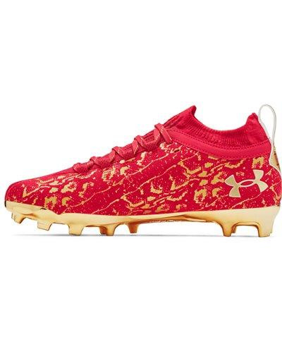 Spotlight Lux Suede 2.0 Zapatos de Fútbol Americano para Hombre Red/Metallic Silver