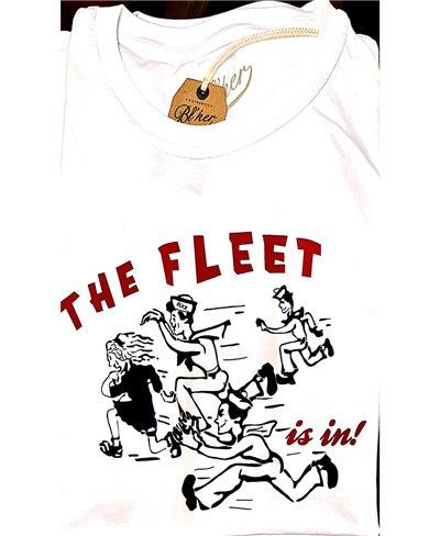 Herren Kurzarm T-Shirt The Fleet White