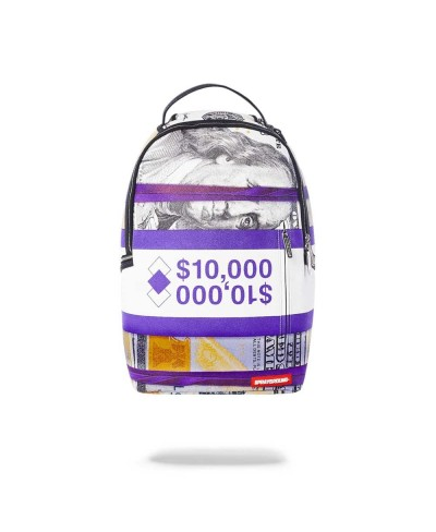 Purple Money Bands Backpack