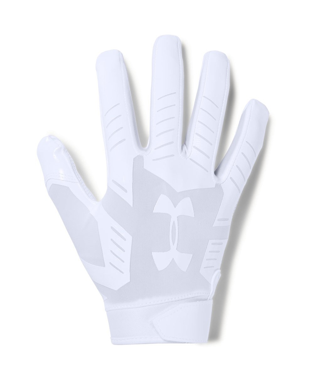 Under Armour F6 Men s American Football Gloves White 03212fc755