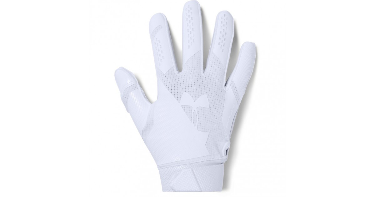 50ffde8c957 Under Armour Spotlight NFL Men s American Football Gloves White
