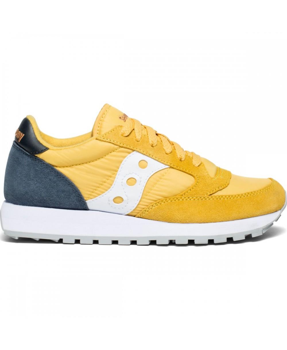 e132573d367b Saucony Women s Jazz Original Sneakers Shoes Yellow Navy