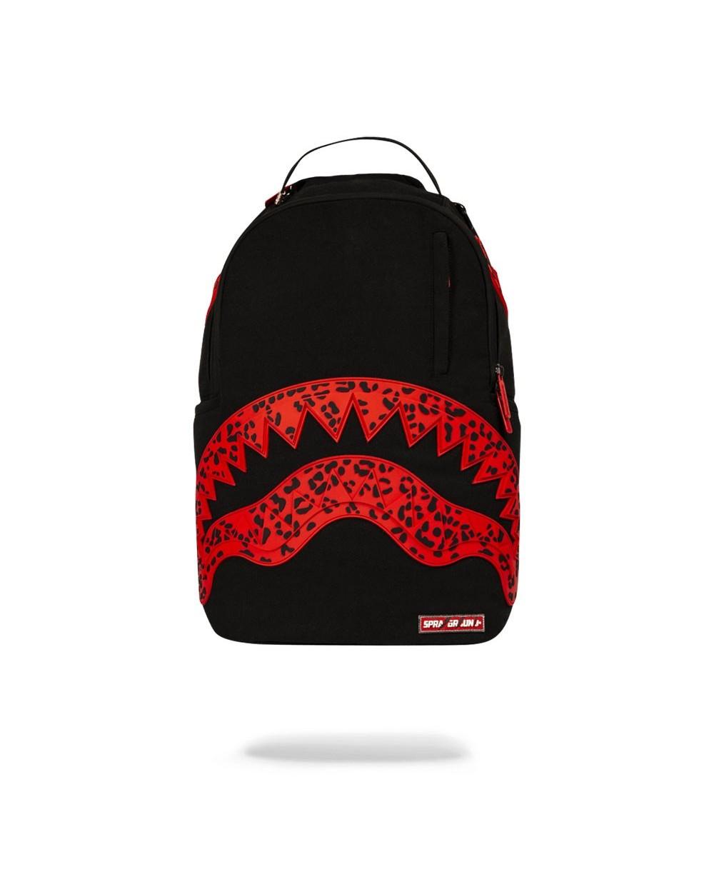 2d0eb481aff Sprayground Red Leopard Rubber Shark Backpack